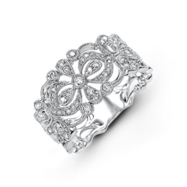 Petal Diamond Wedding Band