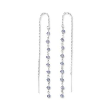 Tanzanite Threader Earrings