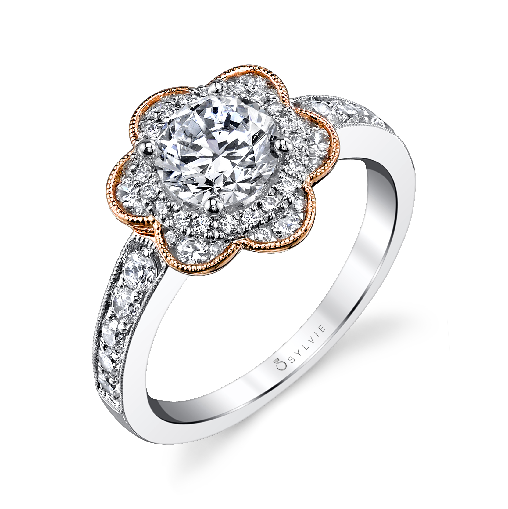 Flower Halo Wedding: Andres Fine Jewelers