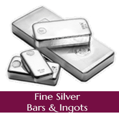.999 Fine Silver Bars and Ingots