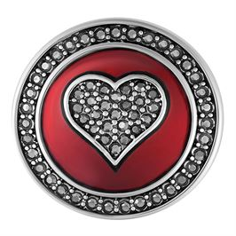 Heart shape red hematite encrusted Ginger Snaps snap