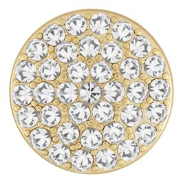 This snap from Ginger Snaps© features a series of white gems radiating from the center of a matte gold tone base