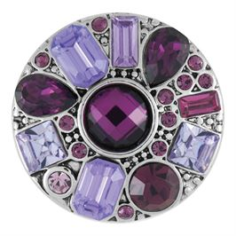 This snap from Ginger Snaps© features a asymmetrical medley of gems in shades of purple