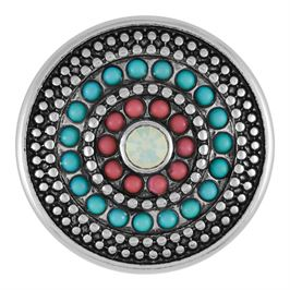 This snap from Ginger Snaps© features concentric circles of blue and coral colored stones