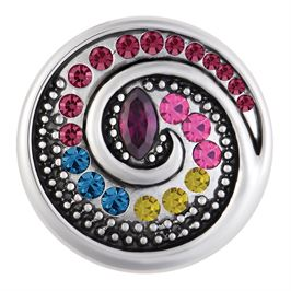 This snap from Ginger Snaps© features a series of multi-colored gems spiraling towards a marquise cut gem