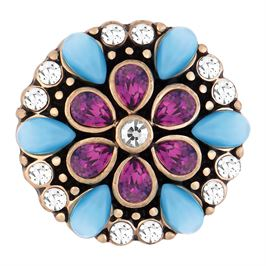 This snap from Ginger Snaps© features concentric pear shaped purple and blue gems
