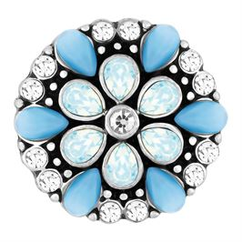 This snap from Ginger Snaps© features light and medium blue stones with white gems