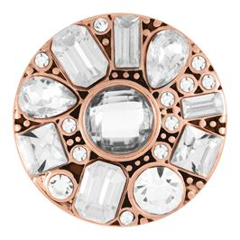 This snap from Ginger Snaps© features a rose gold tone base with white gems