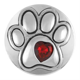 This snap from Ginger Snaps© features a prominent paw print with a red, heart shaped gem in the center