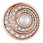 This snap from Ginger Snaps© features white gems spiraling towards an off-center pearl