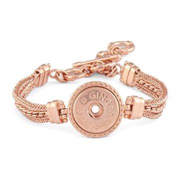 Ginger Snaps Rose Tone Multi Chain Bracelet
