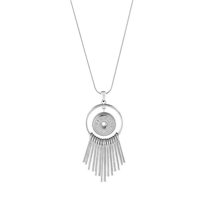 Metal fringe dangles from the Ginger Snaps Stealth pendant necklace