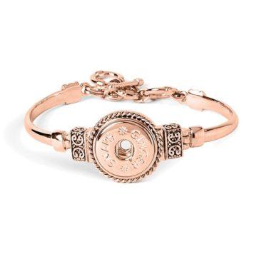 Ginger Snaps Rose Tone Enchantment Bracelet