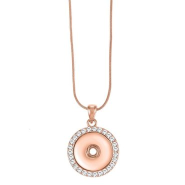 Ginger Snaps Bling Rose Tone Necklace