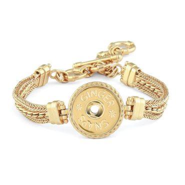 Ginger Snaps Gold Tone Multi Chain Bracelet
