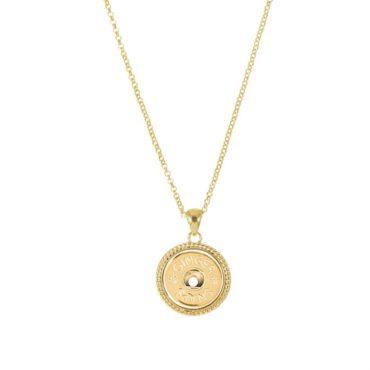 Ginger Snaps Gold Tone Rope Necklace