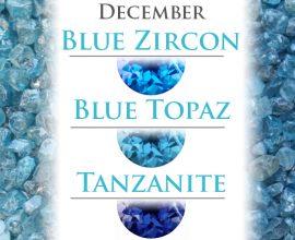 Gems of the Month: Blue Zircon, Blue Topaz, and Tanzanite