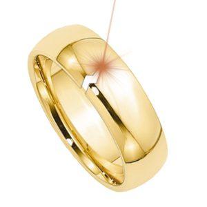 Laser welding a broken gold ring
