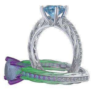 CAD/CAM Custom Designed Jewelry
