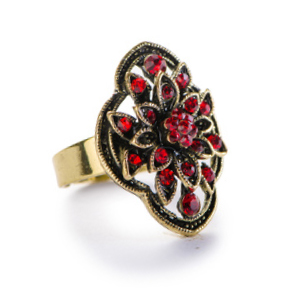 Vintage gold and ruby ring that has been repaired