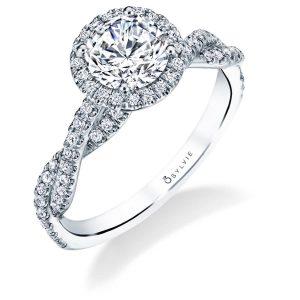 bb7d7b253a6a56 Spiral Diamond Engagement Rings. Kourtney · Anaelle · Ava