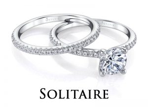 Solitaire diamond engagement rings from the Sylvie Collection