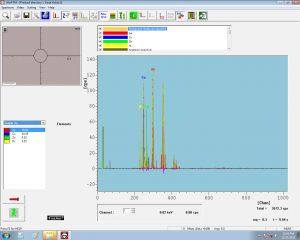 Spectrometer analysis of a 14k white gold ring