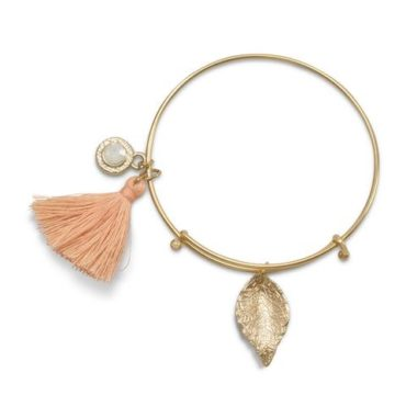 Peachy Keen Bangle Bracelet