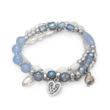 Blue Ice Stretch Fashion Bracelet Set