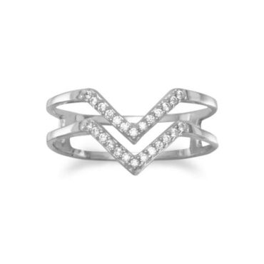 "Double ""V"" Sterling Silver Ring"